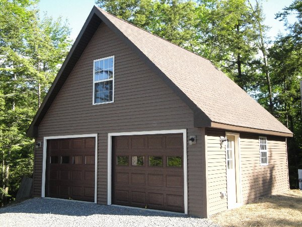 2 Car Garage with Second Floor
